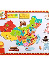 Недорогие -детские мультфильм головоломки магнитные деревянные головоломки игрушки туба-карта мира