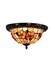 cheap -Retro Tiffany Ceiling Lamp /Shell Shade Flush Mount Living Room Dining Room light Fixture