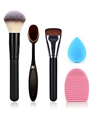 Puderpinsel Make-up Zahnbürste Foundation-Pinsel Reinigungsbürste Ei und die geringe Größe Make-up Schwamm