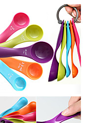 cheap -Colorful 5PCS Kitchen Measuring Spoons Measuring Cups Spoon Cup Baking Utensil Set Kit Measuring Tools