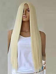Недорогие -Парики из искусственных волос Блондинка Искусственные волосы Блондинка Парик Жен. Длинные Светло-золотой