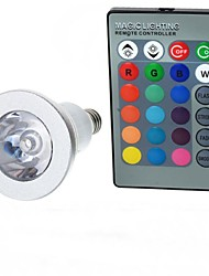 cheap -100-200 lm E14 LED Globe Bulbs A50 1 LED Beads High Power LED Remote-Controlled RGB 85-265 V / 1 pc