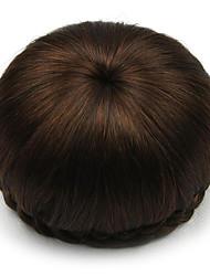 Недорогие -Kinky вьющиеся каштановые человеческие волосы парики шнурка шиньоны 2009