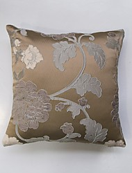 Satin Chenille three-Dimensional Jacquard Cushion Cover-Brown