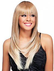 Ombre Wig Straight Fashion Wig Long Blonde With Dark Root TOP Quality Hair Wig