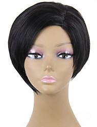 odolné proti žáru levné falešné vlasy paruka krátké černé syntetické paruky pro ženy