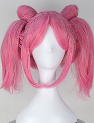 cheap -Cosplay Wigs Sailor Moon Sailor Moon Pink Short Anime Cosplay Wigs 32 CM Heat Resistant Fiber Female