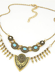 cheap -Women's Statement Necklace  -  Personalized Vintage European Silver Golden Necklace For Party Daily Casual