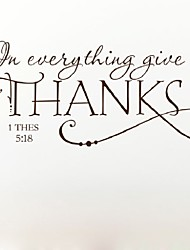 cheap -In Everything Give Thanks Christian Jesus Vinyl Quotes Wall Sticker Art Decal Room Decor  Removable Diy