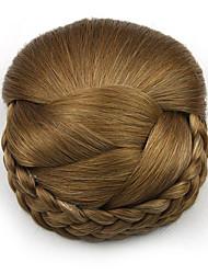 Недорогие -Kinky кудрявый карие профессия шнурка человеческих волос парики шиньоны 2005