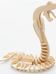 Puzzles Puzzles 3D Puzzles en bois Blocs de Construction Jouets DIY  Serpent Bois Beige Maquette & Jeu de Construction