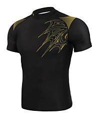 economico -GETMOVING Per uomo Per donna Unisex T-shirt da corsa Manica corta Design anatomico Indossabile Compressione Totalmente elastico