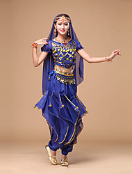 cheap -Shall We Belly Dance Women Performance Fashion Chiffon Sequins 4 Pieces Outfits Dance Costumes