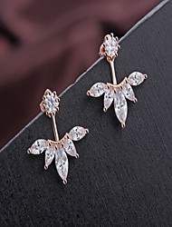 Women's Stud Earrings Fashion Costume Jewelry Alloy Leaf Jewelry For Daily Casual