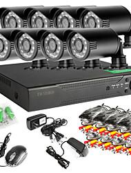 preiswerte -8ch 960h netzwerk dvr 8 stücke 1000tvl ir outdoor cctv-überwachungskamera system