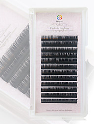 cheap -Eye Eyelash 12 Extended Volumized Smokey Makeup Party Makeup Daily Makeup Individual Lashes Natural Long 1cm-1.5cm
