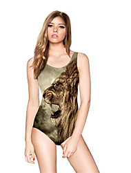 cheap -FuLang swim One-Piece Suits   Paige  Thin   sexy backless   Lion print  SC082