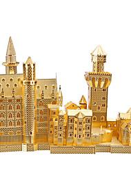 Недорогие -Пазлы 3D пазлы / Металлические пазлы Строительные блоки DIY игрушки известные здания Металл Розовый / Зеленый Модели и конструкторы