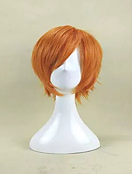 New Arrival  Capless Orange Color Short Curly Synthetic Hair Wig Heat Resistant Cosplays and Party Wig