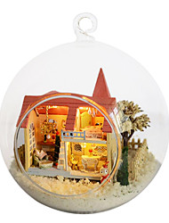 cheap -Chi Fun House Diy Hut Dream Homes Lolita Small House Model Assembled By Hand Creative Birthday Gift