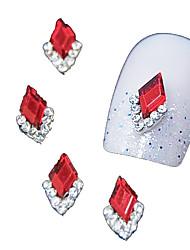 Недорогие -10шт красный маркиза 3d горный хрусталь поделки сплава аксессуары ногтей украшения