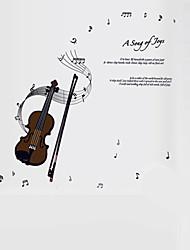 Musica / Parole e citazioni / Natura morta / Moda / Vintage / Tempo libero Adesivi murali Adesivi aereo da parete,PVC 70*50*0.1
