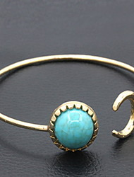 cheap -Green Stone Natural CUff Bangle