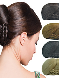 da sposa clip updo chignon bun trecce estensioni sintetiche dei capelli diritti più colori