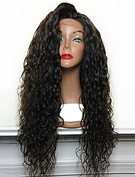 cheap -Hot Selling 180% Density Loose Curly Natural Black Synthetic Lace Front Wigs High Heat Resistant Synthetic Hair Wigs