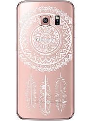 Недорогие -Кейс для Назначение SSamsung Galaxy Samsung Galaxy S7 Edge Прозрачный / С узором Кейс на заднюю панель Ловец снов Мягкий ТПУ для S7 edge / S7 / S6 edge plus