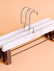 1PC 33.5*1.4cm Wood Trousers Restoring Hangers