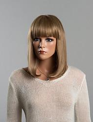economico -bella senza cappuccio diritte parrucche medie dei capelli umani