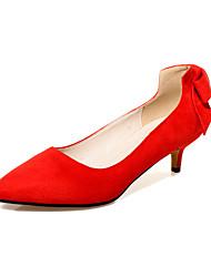 povoljno -Žene Cipele Flis Proljeće Ljeto Udobne cipele Cipele na petu Stiletto potpetica Mašnica za Kauzalni Ured i karijera Formalne prilike Crn