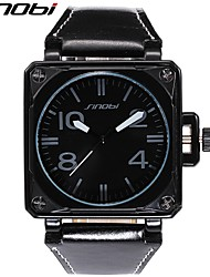 Недорогие -SINOBI Муж. Кварцевый Наручные часы Армейские часы Спортивные часы Защита от влаги Ударопрочный Кожа Группа Роскошь Cool Черный
