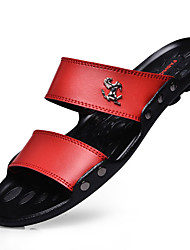 cheap -Men's Shoes Latex Summer Slippers & Flip-Flops Walking Shoes Black Brown Red