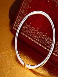 Недорогие -Жен. Браслет разомкнутое кольцо Мода Стерлинговое серебро Браслет Ювелирные изделия Серебряный Назначение