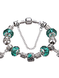 Antique Silver Plated Towl Pendant Beads Strands Bracelet #YMGP1019