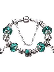 cheap -Women's Girls' Charm Bracelet Strand Bracelet European Durable Fashion Adorable Beaded Acrylic Silver Plated Alloy Geometric Owl Jewelry