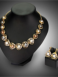 cheap -Women's Necklace/Earrings Party Fashion Wedding Earrings Necklaces