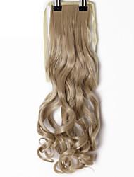 Недорогие -Cross Type Расширения человеческих волос Естественные кудри / Классика Конскиехвостики Искусственные волосы