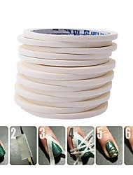 Blueness White 0.5cm*17m Nail Art Tape Rolls Nails Decoration Edge Guide Tips DIY Stickers Manicure Stripe Tools