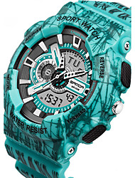 Недорогие -SANDA Мужской Спортивные часы электронные часы LCD Календарь Защита от влаги С двумя часовыми поясами тревога Светящийся Хронометр