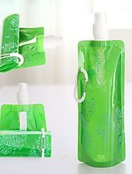 (cor aleatória) novas actividades ao ar livre 1pc portátil esportes de plástico saco de água garrafa de sacos de água dobrável