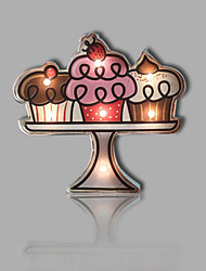 E-HOME® Metal Wall Art LED Wall Decor, A Cake On A Plate LED Wall Decor One PCS