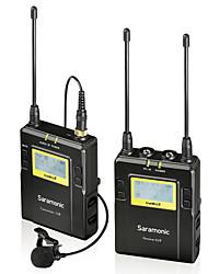 uwmic9 sistema UHF microfono Lavalier wireless a 96 canali saramonic per Canon Nikon Pentax Sony DSLR& il video videocamere