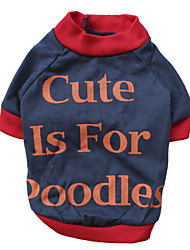 abordables -Chat Chien Tee-shirt Vêtements pour Chien Respirable Mode Lettre et chiffre Orange Rouge Costume Pour les animaux domestiques