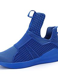 Da uomo scarpe da ginnastica Comoda Tulle Primavera Estate Sportivo Casual Basket Comoda Piatto Nero Rosso Blu Piatto