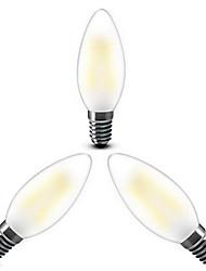 e14 led žárovky c35 4 cob 400lm teplé bílé 2800-3200k stmívatelné ac 220-240v