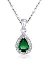 Fashion Personalized Gift  Green 925 Sterling Silver Women Necklaces & Pendants
