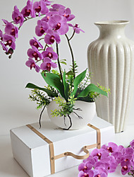 Недорогие -Искусственные Цветы 2 Филиал Простой стиль Орхидеи Букеты на стол